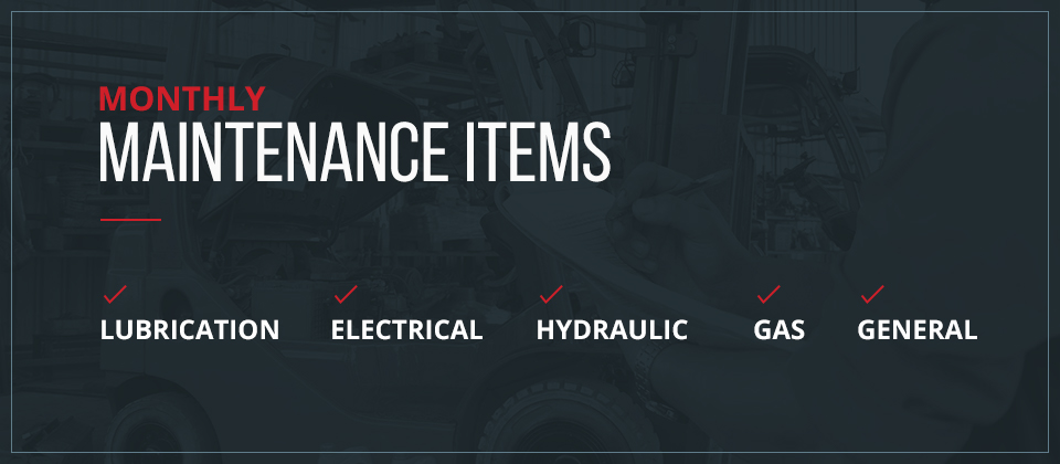 Monthly Maintenance Items