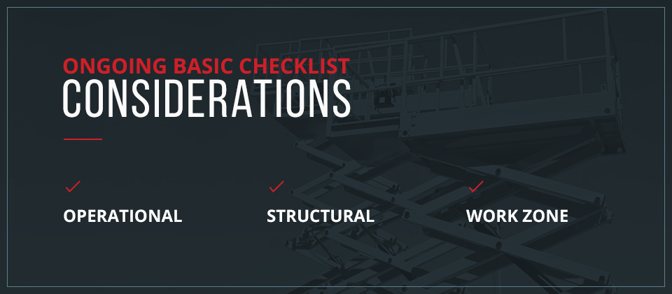 Ongoing Basic Checklist Considerations